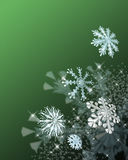 Festive snowflakes. A decorative illustration of 3d snowflakes with space left for copy Stock Images