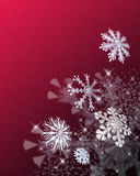 Festive snowflakes. A decorative illustration of 3d snowflakes with space left for copy Stock Image