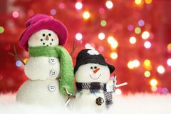 Festive snowman Royalty Free Stock Images