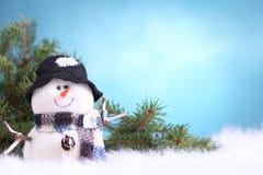 Festive snowman Stock Photos