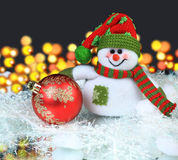 Festive snowman with Stock Photography