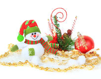 Festive snowman with Royalty Free Stock Photo