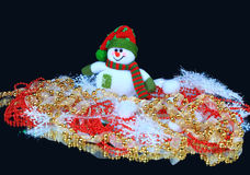 Festive snowman with Christmas Stock Images