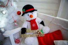Festive snowman. Stock Photo