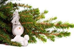 Festive snowman in seasonal setting Stock Photo