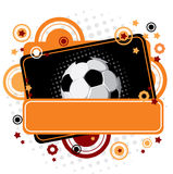 Festive Soccer background. Vector festive Soccer background with a place for your text Royalty Free Stock Photos