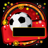 Festive Soccer background Stock Photos