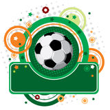 Festive Soccer background. Vector festive Soccer background with a place for your text Stock Photos