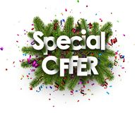 Festive special offer background with serpentine. Stock Image
