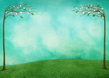 Festive spring Easter background. Spring background for greeting card or poster Easter Holiday. Computer graphics Stock Image