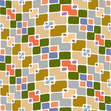 Festive square and flower pattern Royalty Free Stock Photography