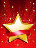 Festive star and banner Royalty Free Stock Image