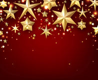Festive starry background. Festive red starry background. Vector paper illustration Royalty Free Stock Photos