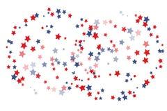Festive stars confetti backdrop stock illustration