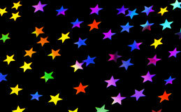Festive stars party background Stock Photography