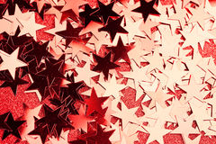 Festive stars on red Royalty Free Stock Image