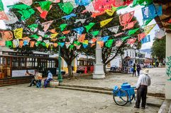 Free Festive Street Scene In San Cristobal De Las Casas, Mexico Royalty Free Stock Photography - 112239887