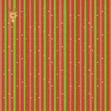 Festive striped background with fun reindeer.  Stock Image