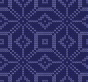 Festive Sweater Design. Seamless Knitted Pattern. Festive Sweater Design. Seamless Winter Knitted Pattern Stock Images