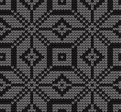 Festive Sweater Design. Seamless Knitted Pattern. Festive Sweater Design. Seamless Winter Knitted Pattern Stock Photography