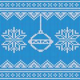 Festive Sweater Design. Seamless Knitted Pattern. Vector illustrstion Royalty Free Stock Photos