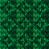 Festive Sweater Design. Seamless Knitted Pattern. Festive Sweater Design. Seamless Winter Knitted Pattern Stock Photo