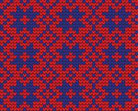 Festive Sweater Design. Seamless Knitted Pattern. Festive Sweater Design. Seamless Winter Knitted Pattern Stock Image