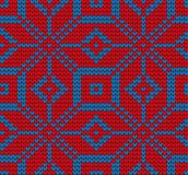 Festive Sweater Design. Seamless Knitted Pattern. Festive Sweater Design. Seamless Winter Knitted Pattern Royalty Free Stock Images