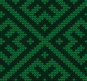 Festive Sweater Design. Seamless Knitted Pattern. Festive Sweater Design. Seamless Winter Knitted Pattern Royalty Free Stock Photography