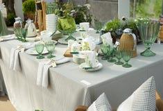 Festive table stock photos