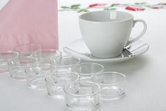 Festive table. Table setting before a party Royalty Free Stock Photo