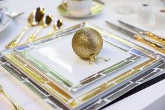 Festive table arrangement Royalty Free Stock Image