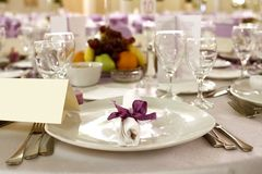 Festive table arrangement Stock Image