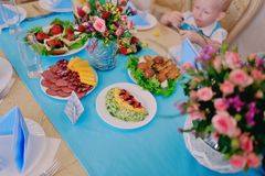 Festive table Royalty Free Stock Images