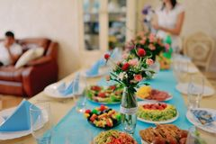 Festive table Stock Images