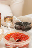 A festive table with caviar Stock Images