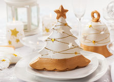 Festive table for Christmas Royalty Free Stock Images