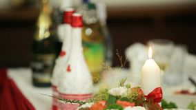Festive Table stock footage