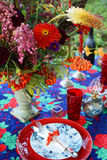 Festive table decoration Stock Image