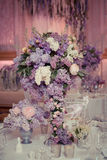 Festive table decoration in Lilac colours. Royalty Free Stock Photos