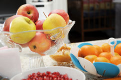 Festive table with fruits Royalty Free Stock Images