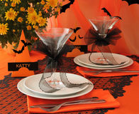 Festive table on Halloween Royalty Free Stock Images