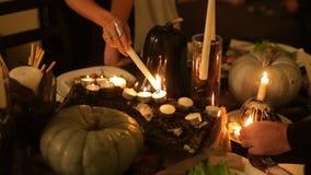 Festive table on Halloween