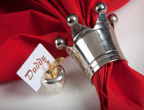 Festive table in red and white 9 Royalty Free Stock Photos