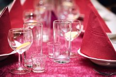 Festive table in the restaurant Stock Image