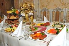 Festive table Stock Image