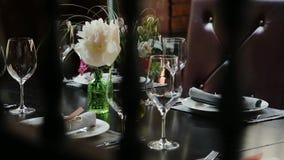 Festive wedding table. stock footage