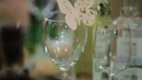 Festive wedding table. stock video footage