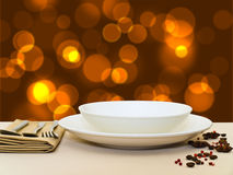 Festive table serving Stock Images