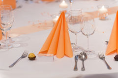 Festive table set Stock Images